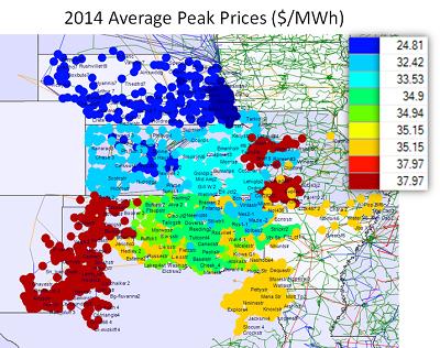 SPP Peak Prices 2014